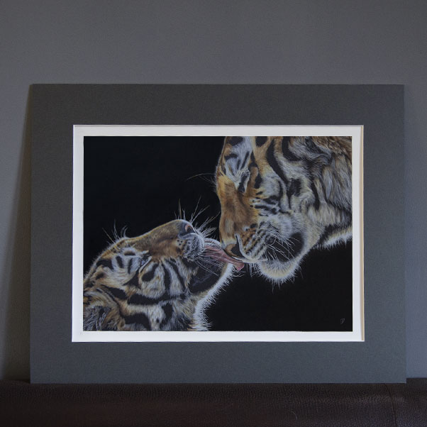 British Wildlife - An Unbreakable Bond mounted print