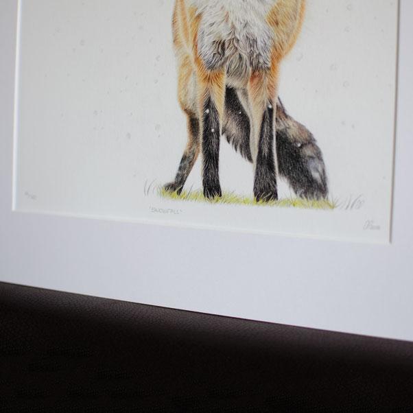 Snowfall mounted print thumbnail 3