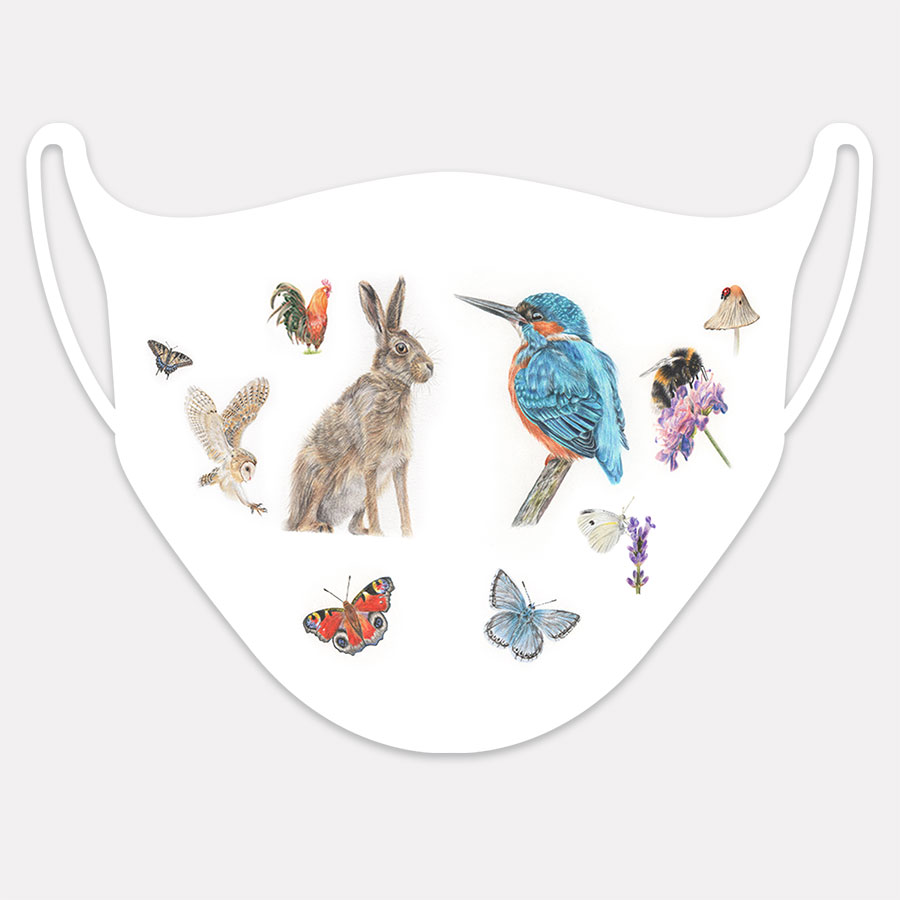 Face mask - Preview image  British Wildlife Art