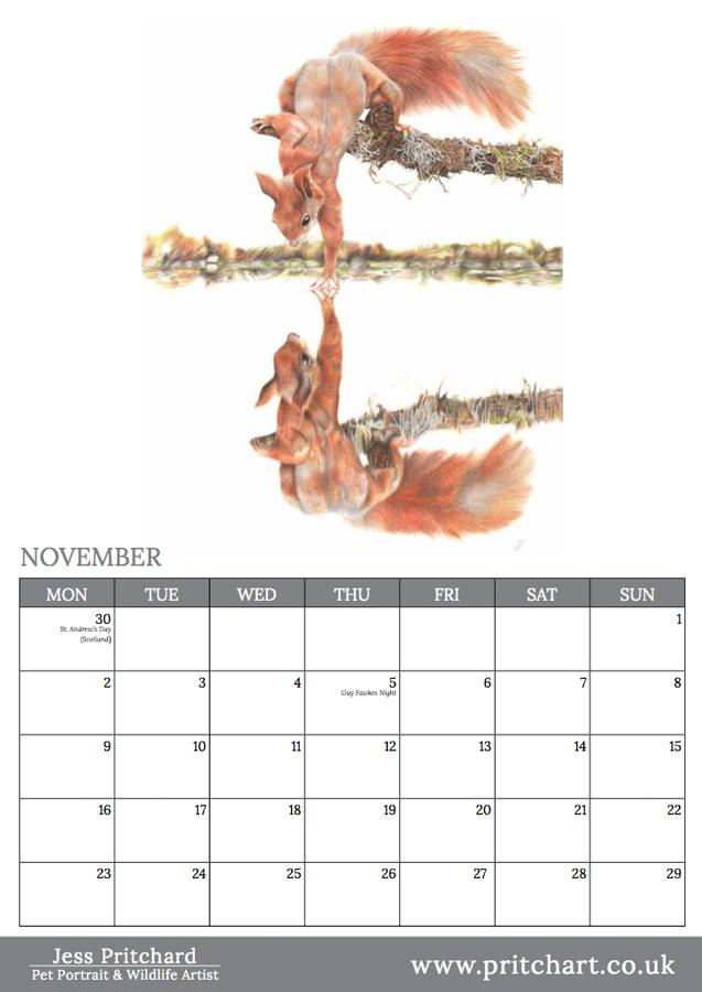 2020 British Wildlife Wall Calendar thumbnail 3
