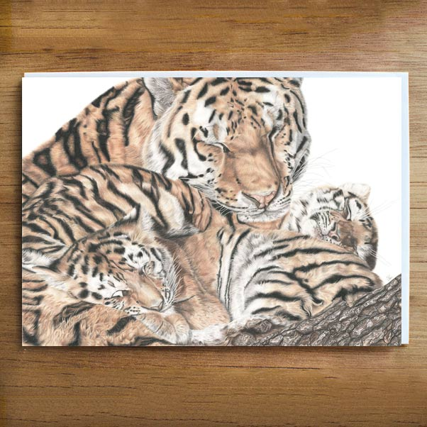 British Wildlife - A Mother's love Greeting Card