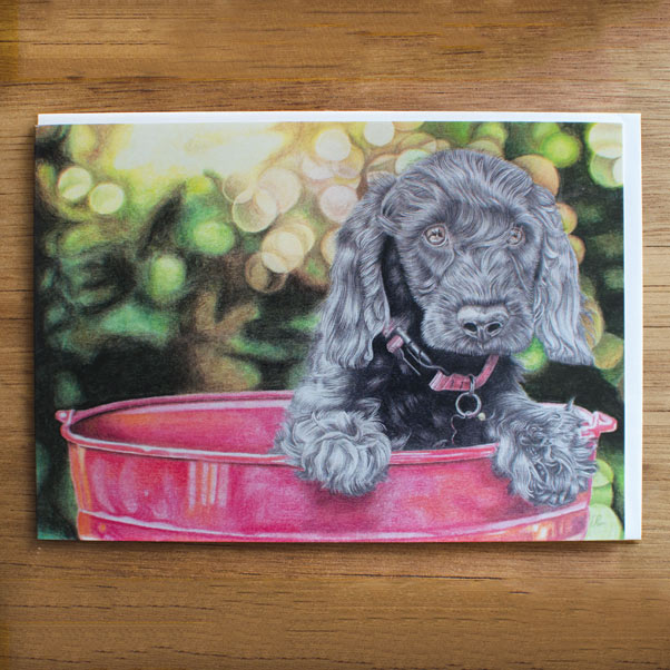 British Wildlife - Bucket Pup Greeting Card