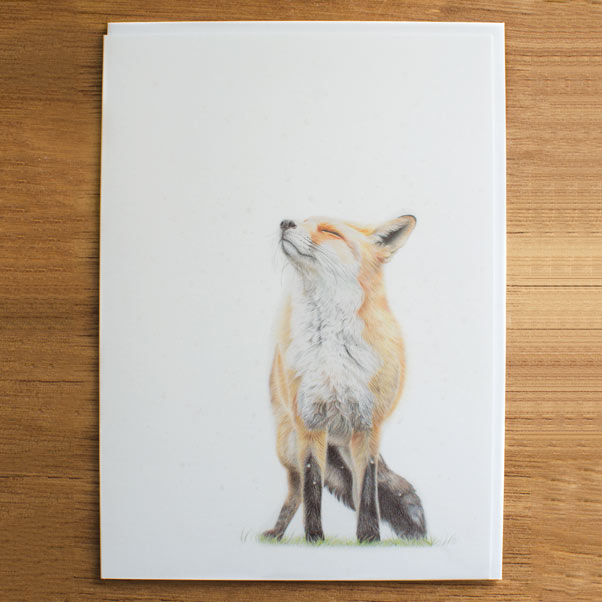 British Wildlife - Snowfall Greeting Card